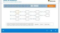 Fantástico generador de ejercicios para aprender las tablas de multiplicar.