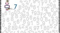 Fichas para trabajar los números 0 al 9