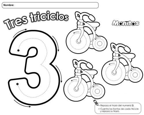 Trabajamos los números del 1 al 10 con estas divertidas láminas ...