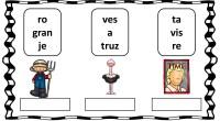 A continuación, os traemos una actividad para trabajar la conciencia fonológica que consiste en ordenar sílabas para formar trisílabas para facilitar la realización del ejercicio se acompañan de dibujos.