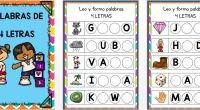 Sencilla actividad para completar huecos para formar y leer palabras de 4 letras, con esta actividad potenciamos la conciencia semántica y la lectoescritura.