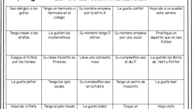 Bingo para el primer día de clase-001 - Orientación Andújar ...