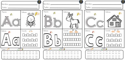 completo abecedario para escribir colorear trazar y repasar