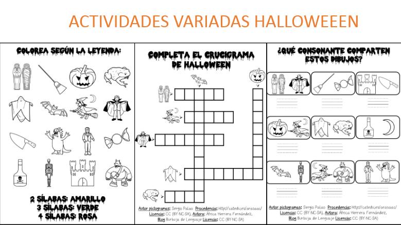 Terroríficas actividades halloween con pictogramas -Orientacion Andujar