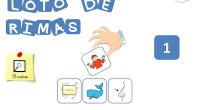 «LOTOS DE RIMAS»como su propia palabra indica el material son tres lotos diferentes con imágenes ya seleccionadas para que los niños puedan hacer parejas de palabras que riman.