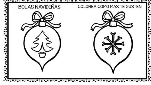 30 bolas navideñas para colorear y decorar tu clase totalmente ...