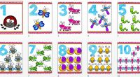 Os hemos preparado unas divertidas láminas con insectos para trabajar el conteo con los números del 1 al 20.