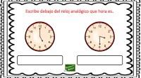 La siguiente actividad tiene como objetivo el aprendizaje de las horas en los relojes analógicos, algo que puede resultar complicado a nuestros alumnos.