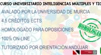 SEGUNDA EDICIÓN OCTUBRE 2019 II CURSO UNIVERSITARIO INTELIGENCIAS MÚLTIPLES Y TIC PARA MATRICULARTE ModalidadActividad On-Line PromotoresFACULTAD DE TRABAJO SOCIAL (Universidad de Murcia),COVER VIRTUAL WEB, S.L. Dirección de la actividad CATALINA […]