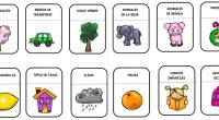 Os hemos preparado estas tarjetitas con diferentes categorías léxicas para trabajar en clase.