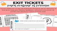 ¿Qué es un Exit Ticket? Es un tipo de evaluación formativa que permite monitorear el proceso de aprendizaje de nuestros alumnxs ya que contiene instrucciones para que realicen luego de […]