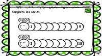 Con estos divertidos gusanos vamos a practicar las series numéricas. Ejercicios como éstos hacen más amenos el aprendizaje de las matemáticas que en algunas ocasiones pueden resultar complejo.