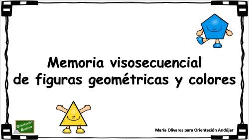 Trabajamos la memoria visosecuencial con figuras geométricas y colores
