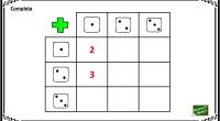 Con los dados vamos a practicar el cálculo mental, en concreto, la suma. Completa la tabla como en el ejemplo.
