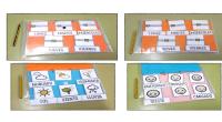 Calendario visual con pictogramas para organizar el tiempo con el que podemos trabajar contenidos y actividades sobre el día, el clima, la estación y las emociones propias. Con cada una […]