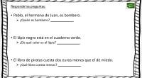 A continuación os traemos un ejercicio para trabajar la comprensión lectora de frases cortas, en ellas nuestros alumnos/as deben de contestar a una pregunta, a partir de una frase corta […]