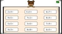 Os dejamos estas plantillas para repasar las tablas de multiplicar de manera fácil y rápido.
