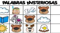Sencilla actividad en la que nuestros alumnos/as deben de averiguar el nombre de una palabras gracias a la letra por la que empiezan los dibujos que se ponen como pista.