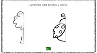 A continuación os traemos una colección de dibujos que hay que completar y posteriormente colorear con el objetivo de trabajar la lateralidad y la simetría.