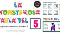 DESCARGA LAS TABLAS EN PDF tablas de multiplicar monstruosas VOL-1 AUTORÍA: Vanessa Cuesta Nares https://verparacrearjuntos.blogspot.com/