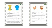 Divertidas tarjetas para trabajar la estimulación cognitiva de nuestros alumnos a través del ejercicio de comparar y contrastar las semejanzas y diferencias de dos objetos.