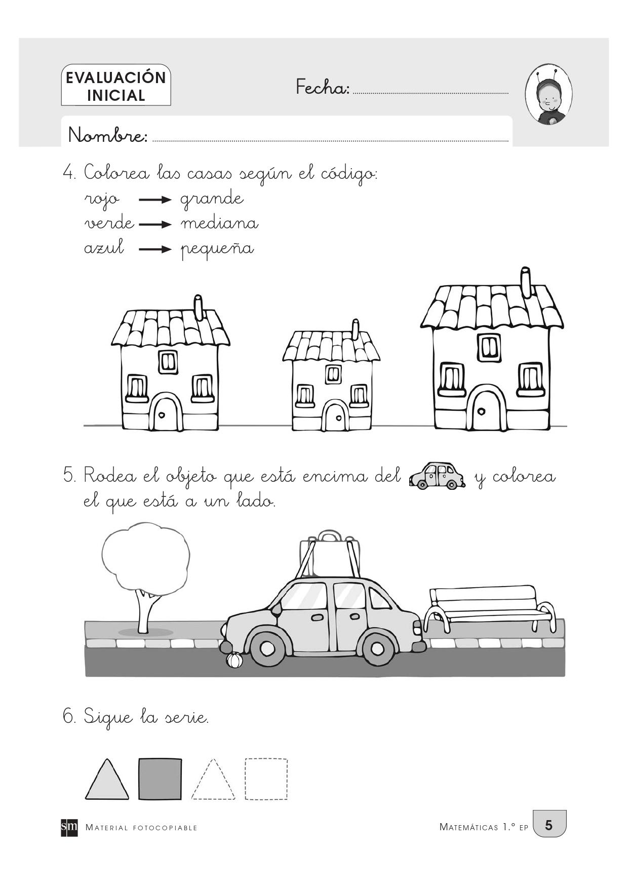 Evaluación inicial para primero de primaria_page-0004 - Orientación Andújar  - Recursos Educativos