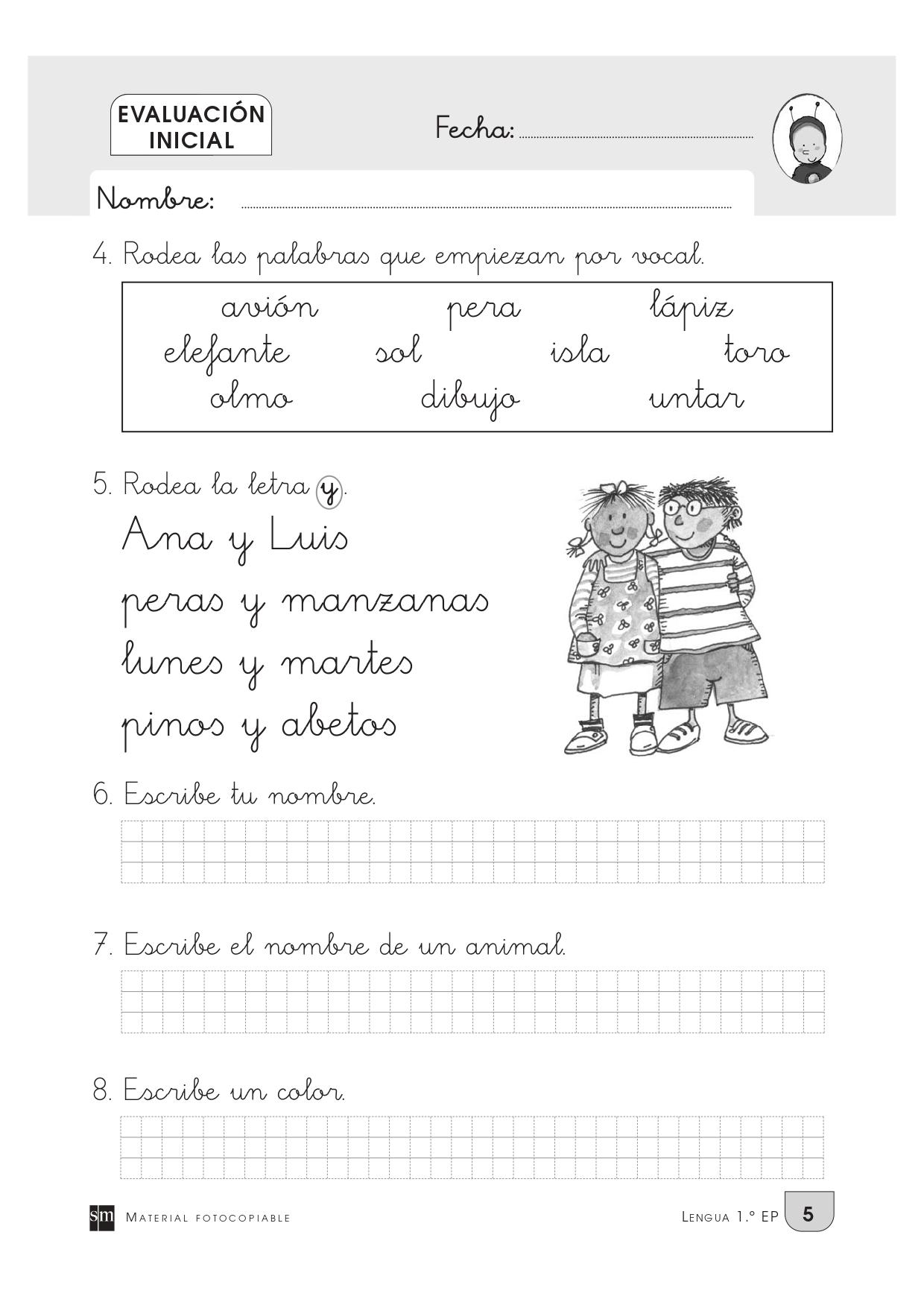 Evaluación inicial para primero de primaria_page-0008 - Orientación Andújar  - Recursos Educativos