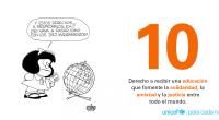 10 derechos fundamentales de los niños, por Quino A 30 años de la Convención sobre los Derechos del Niño El niño disfrutará de todos los derechos enunciados en esta Declaración. […]