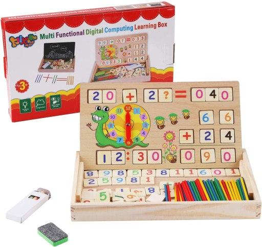 Tablero Montessori para aprender las horas y matematicas