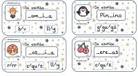 Tarjetas Ortográficas. Hoy os traemos un conjunto de tarjetas para trabajar la ortografía con opciones de respuesta.