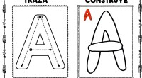 DESCARGA LAS LÁMINAS EN PDF traza, construye y colorea con plastilina trabajamos las vocales