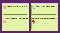 Hoy os presentamos varias tarjetas formato llavero para trabajar la conciencia léxica y la estructuración sintáctica. Deben ordenar la frase de cada tarjeta para que tenga sentido respetando las mayúsculas […]