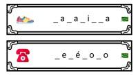 En las siguientes fichas, han desaparecido algunas letras de una colección de palabras, menos mal que tenemos unos dibujos que os pueden ser de ayuda para descubrir las letras perdidas. […]