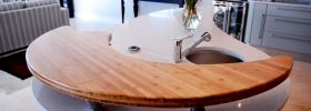 Bamboo counter top - Mixed media countertop