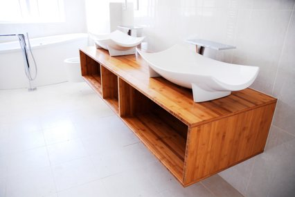 Solid bamboo furniture board - bathroom cabinet