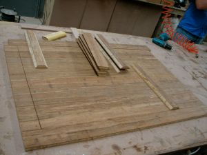 Strand Woven Bamboo coffee table - cutting up the board based on the cutting list