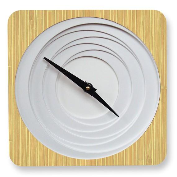 Petal natural bamboo clock