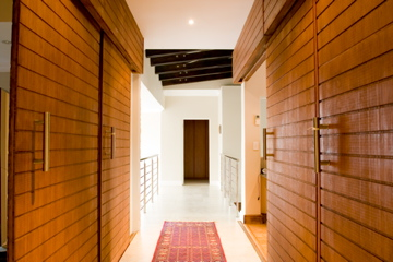 Sliding solid bamboo doors