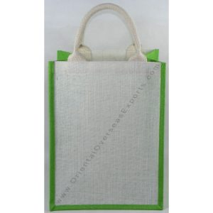 Basic Jute Bag With Cotton Web Handles.