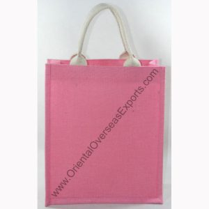 jute bag with web handle
