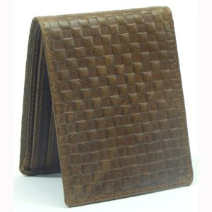 Embossed RFID Protected Leather Wallet