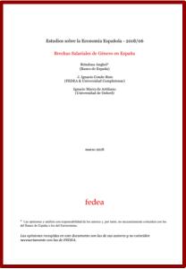 Brecha salarial de género en España FEDEA 2018