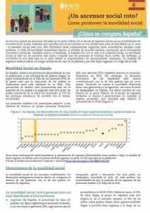 Informe OCDE Movilidad Social de Ingresos intergeneracional en España 2018