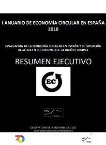 I Anuario Economia circular en España 2018 Observatorio de la Sostenibilidad