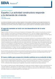 Informe España La actividad constructora responde a la demanda de vivienda BBVA Research 2018