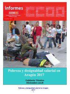 Pobreza y desigualdad salarial en Aragon CCOO Aragon 2018