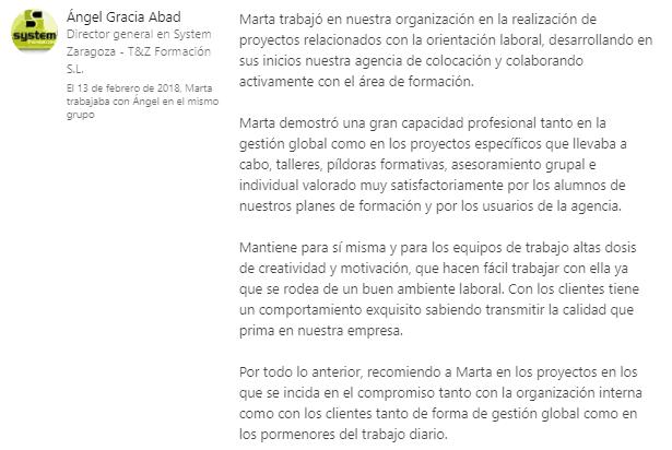 Recomendación Angel Gracia