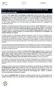 Resumen Informe SOS 17 ODS X 17 en las CCAA. Agenda 2030 en España