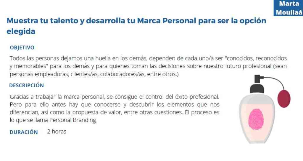 Muestra tu talento y marca personal Marta Mouliaa