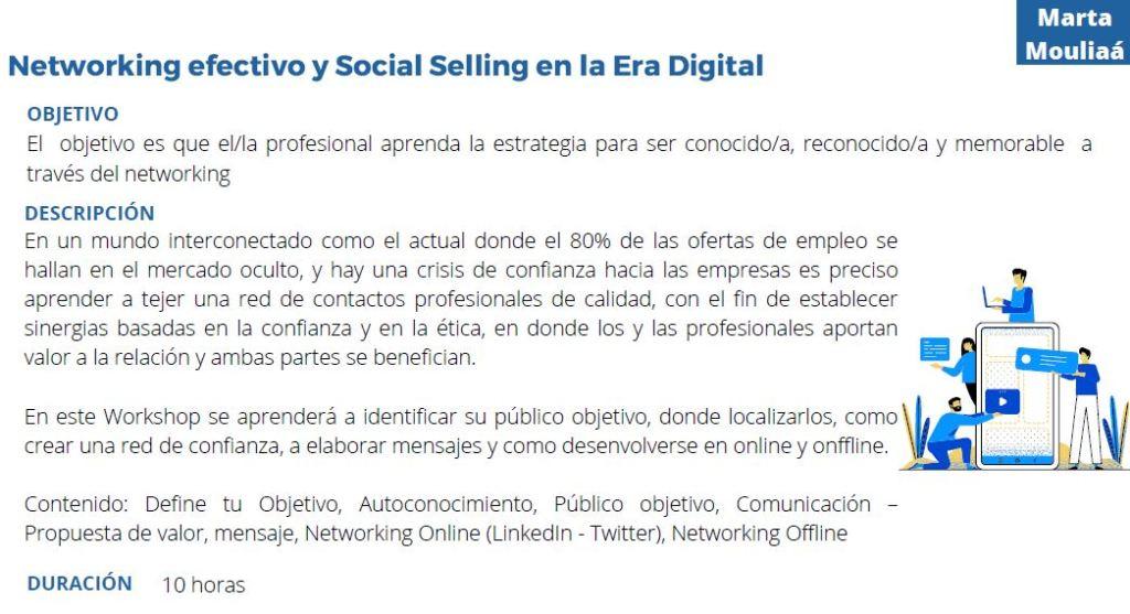 Networking efectivo y social selling en la era digital Marta Mouliaa